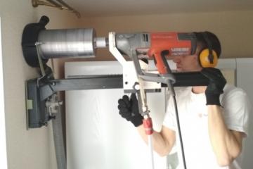 Монтаж систем вентиляции, установка рекуператора и клапанов